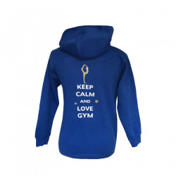 Sweat à capuche Keep calm and love Gym