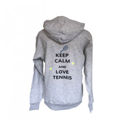 Sweat à capuche Keep calm and love tennis