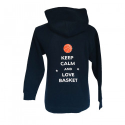 Sweat à capuche Keep calm and love Basket