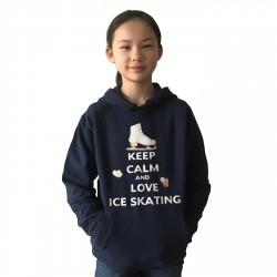 Sweat à capuche Keep calm and love Ice Skating