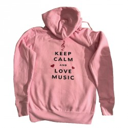 Sweat à capuche Keep calm and love Music