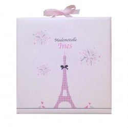Tableau Tour Eiffel Mademoiselle personnalisable