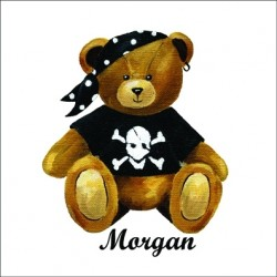 Tableau  ours pirate Morgan personnalisable
