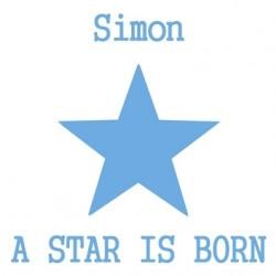 Tableau a star is born bleu vif
