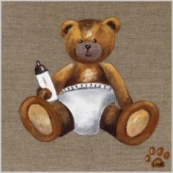 Tableau bébé ours blanc