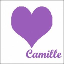 Tableau coeur violet