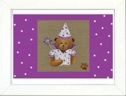 Tableau enfant encadré fée violette