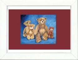 Tableau enfant encadré les ours marrons