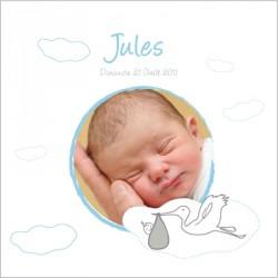 Tableau naissance avec photo Jules