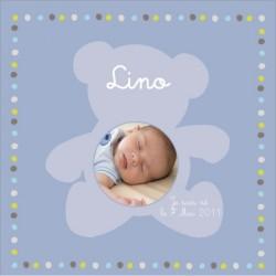Tableau naissance avec photo Lino
