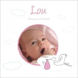 Tableau naissance avec photo Lou