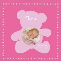 Tableau naissance avec photo Nina