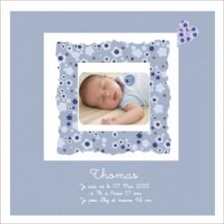 Tableau naissance avec photo Thomas
