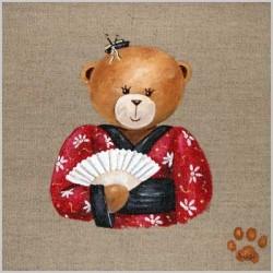 Tableau ours fille japonaise