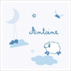 Tableau personnalisable bleu allée des beaux rêves