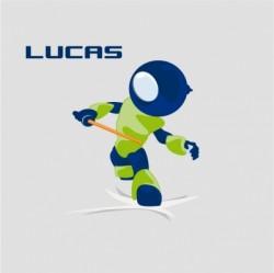 Tableau personnalisable Robot bleu