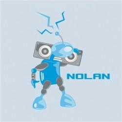 Tableau personnalisable Robot bleu turquoise