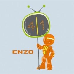 Tableau personnalisable Robot orange