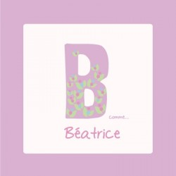 Tableau personnalisable violet B comme