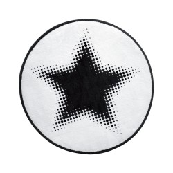 Tapis étoile Walk of Fame noir et blanc