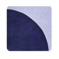 Tapis carré design Corro bleu