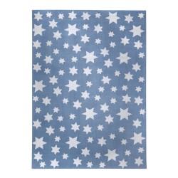 Tapis étoiles Jeans Star bleu ciel