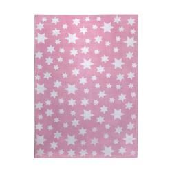 Tapis étoiles Jean Star rose pâle