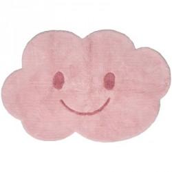 Tapis en coton nuage Nimbus rose