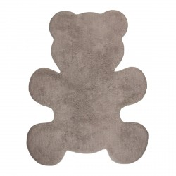 Tapis en coton Little Teddy taupe