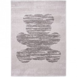 Tapis Ours gris vintage