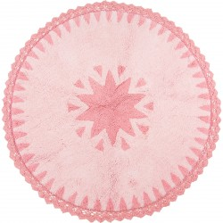 Tapis Warren rose en coton de Nattiot
