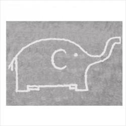 Tapis éléphant gris blanc