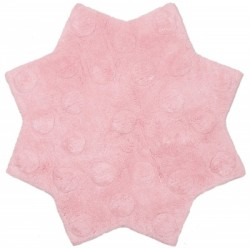 Tapis Little Stella rose en coton