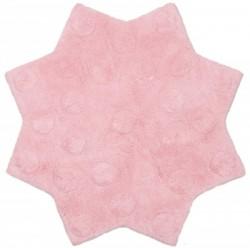 Tapis Stella rose en coton