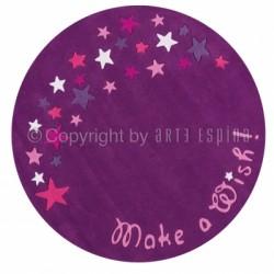 Tapis étoiles rond violet et fushia de Arte Espina