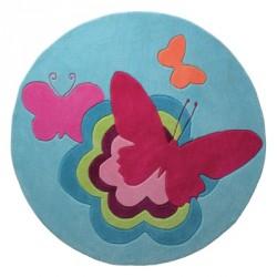 Tapis Butterflies bleu