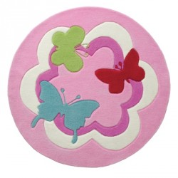 Tapis Butterflies rose