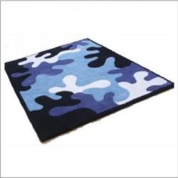 Tapis camouflage Bleu