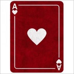 Tapis carte As de coeur rouge