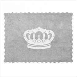 Tapis Couronne grise