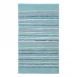 Tapis de bain antidérapant Cool Stripes lignes multico bleu turquoise
