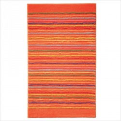 Tapis de bain antidérapant Cool Stripes lignes multico orange