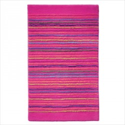Tapis de bain antidérapant Cool Stripes lignes multico rose