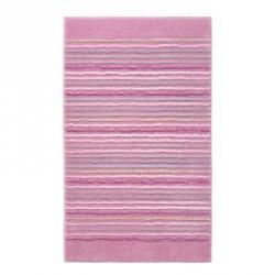 Tapis de bain antidérapant Cool Stripes lignes multico rose pâle