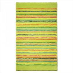 Tapis de bain antidérapant Cool Stripes lignes multico vert clair