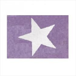 Tapis enfant coton étoile Estela mauve