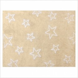 Tapis enfant coton étoiles Esterella beige