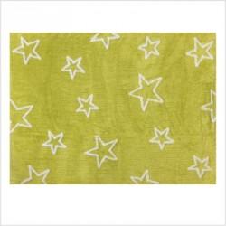 Tapis enfant coton étoiles Esterella vert