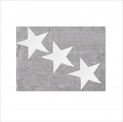 Tapis enfant coton étoiles Europe gris