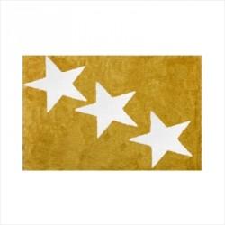 Tapis enfant coton étoiles Europe moutarde